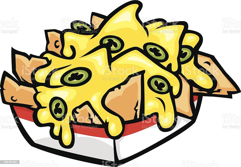 nachos vector art illustration