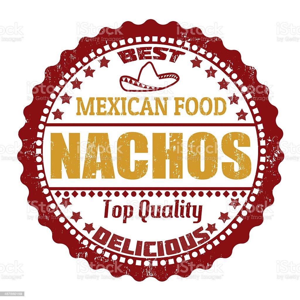 Nachos stamp royalty-free stock vector art