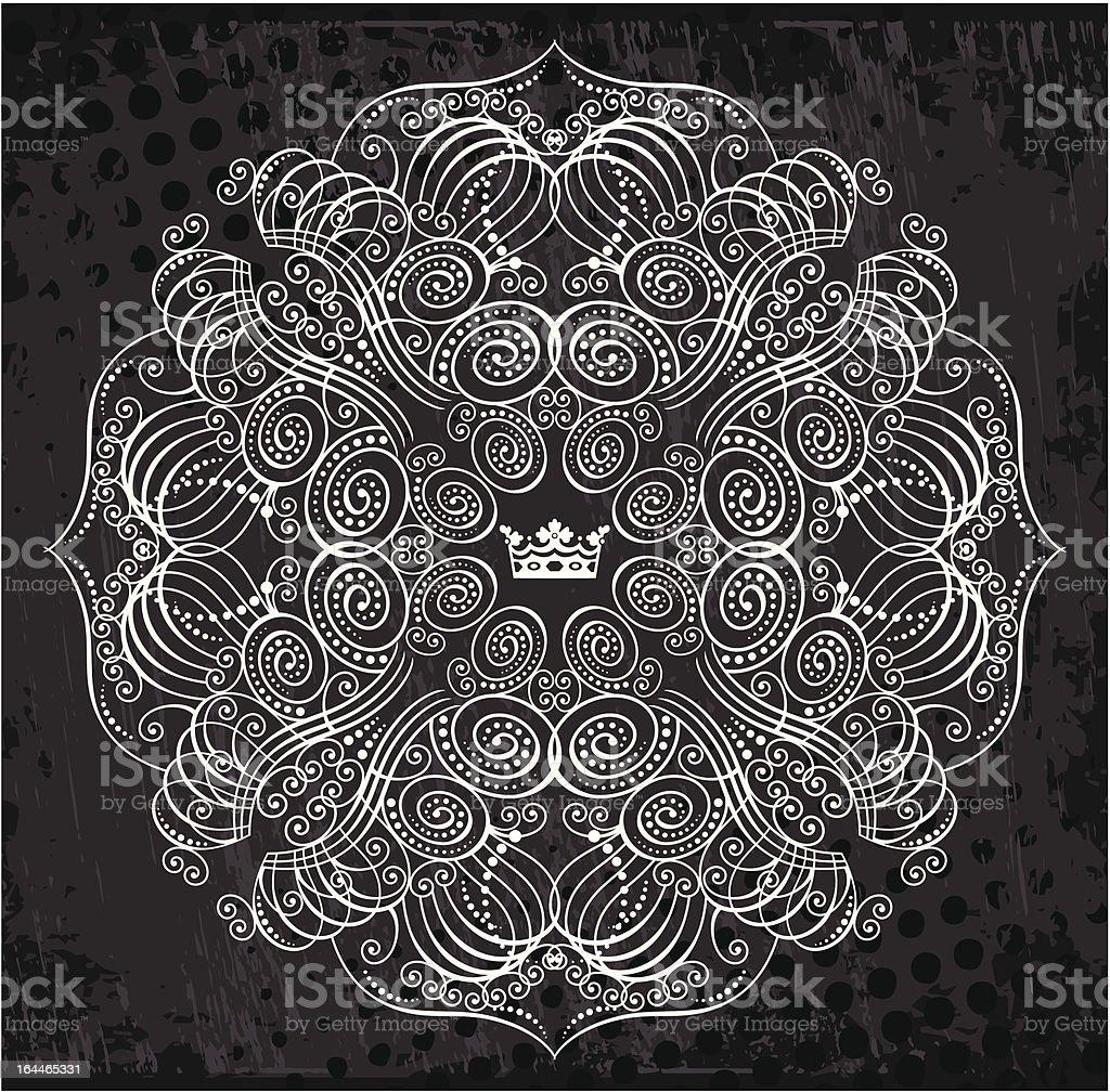 napkin flourish pattern royalty-free stock vector art