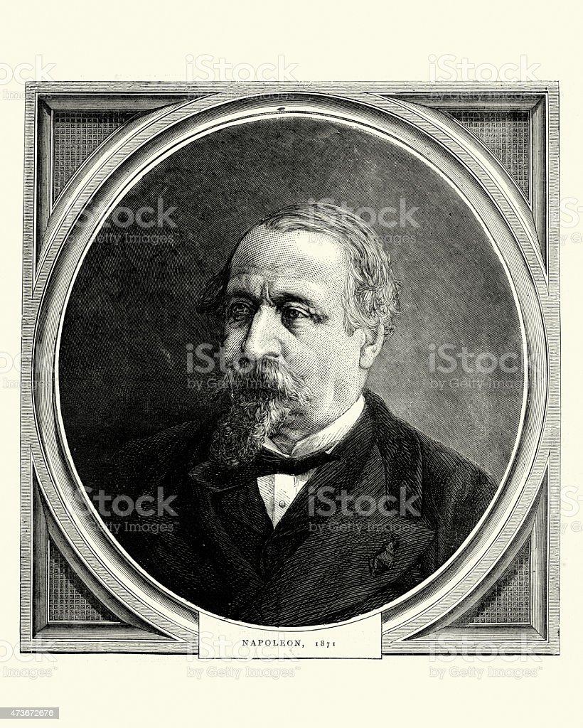 Napoleon III 1871 vector art illustration