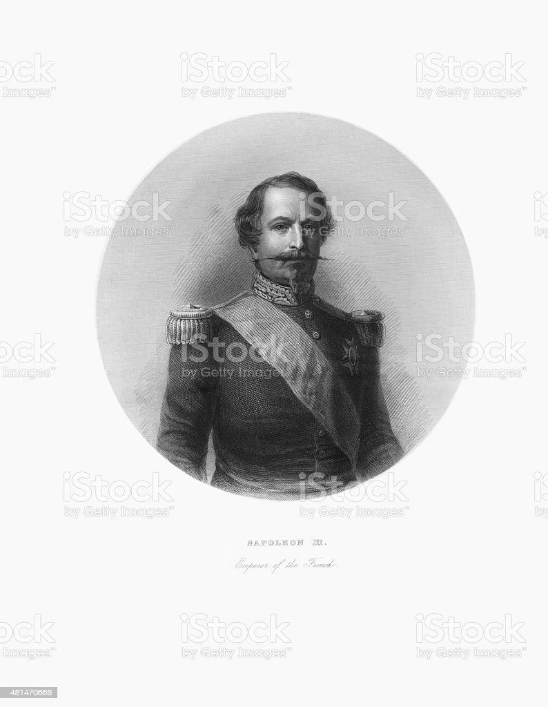 Napoleon III, Emperor of France, Victorian Engraving, Circa 1865 vector art illustration