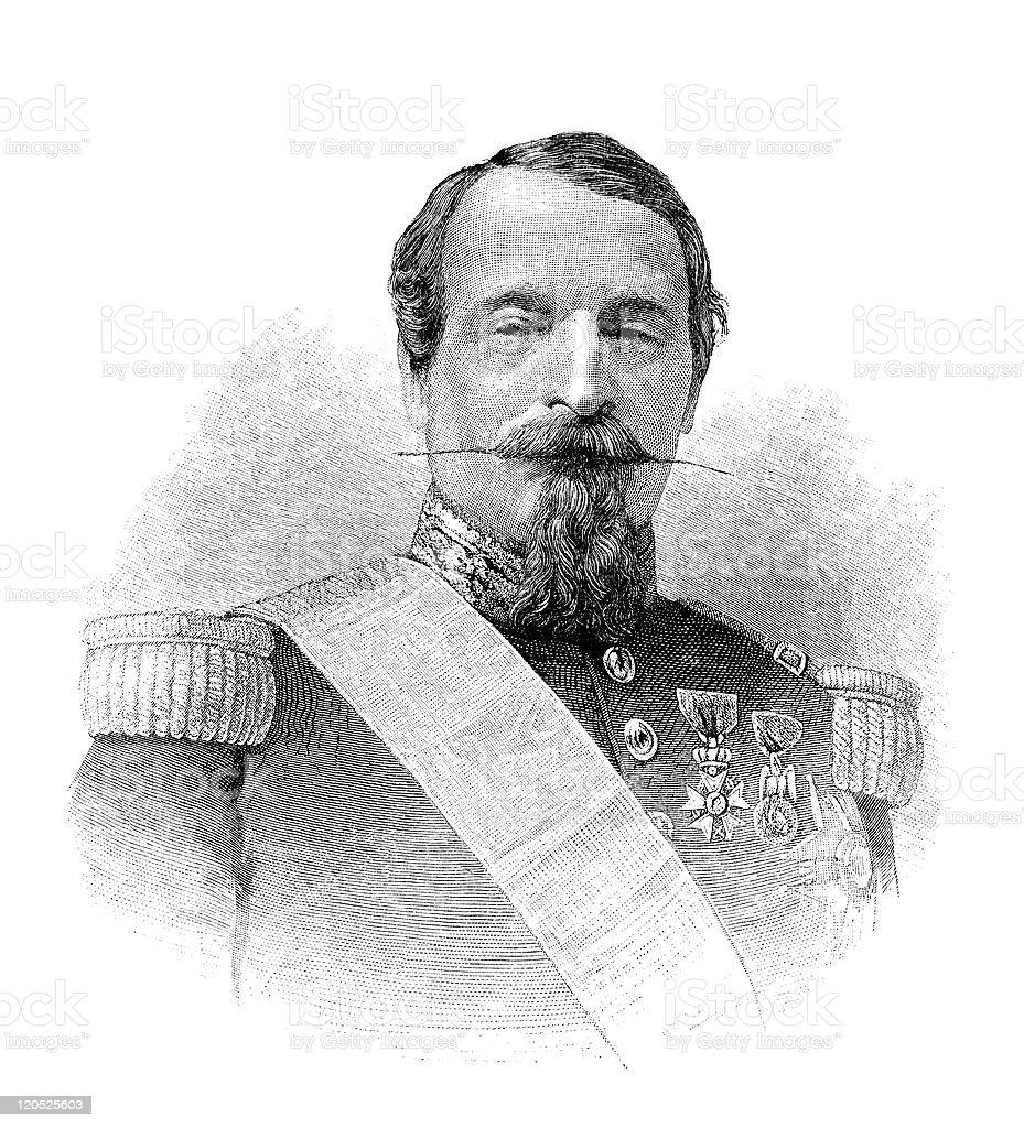 Napoleon III royalty-free stock vector art
