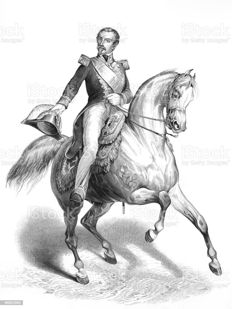 Napoleon III vector art illustration