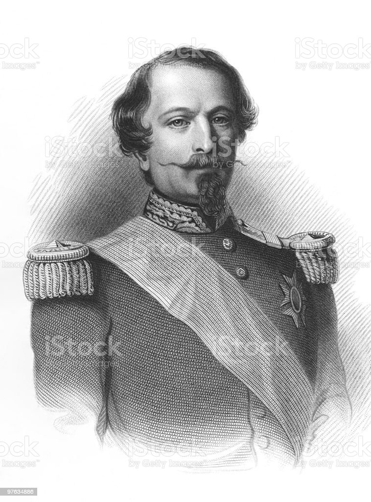 Napoleon III royalty-free stock vector art