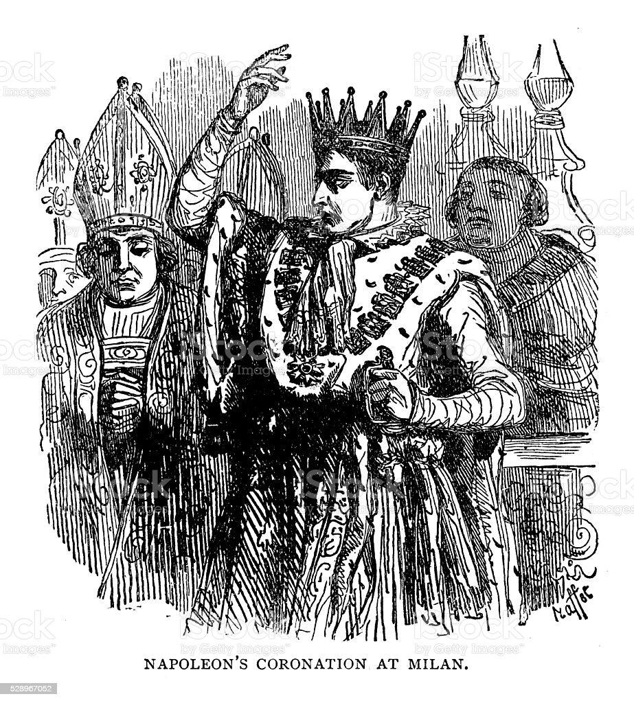 Napoleon's Coronation At Milan vector art illustration