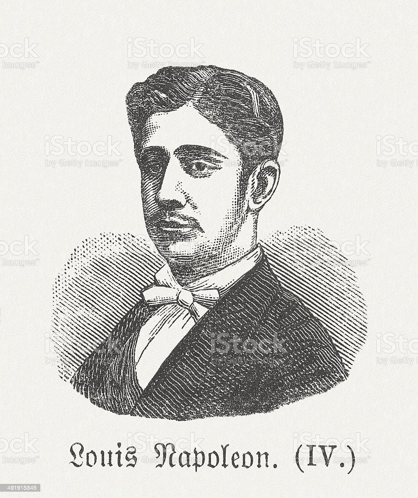 Napoléon, (1856-1879), French Prince Imperial vector art illustration