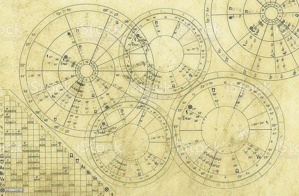 Natal charts vector art illustration