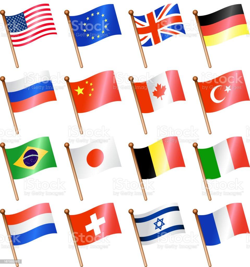 national flag set royalty-free stock vector art
