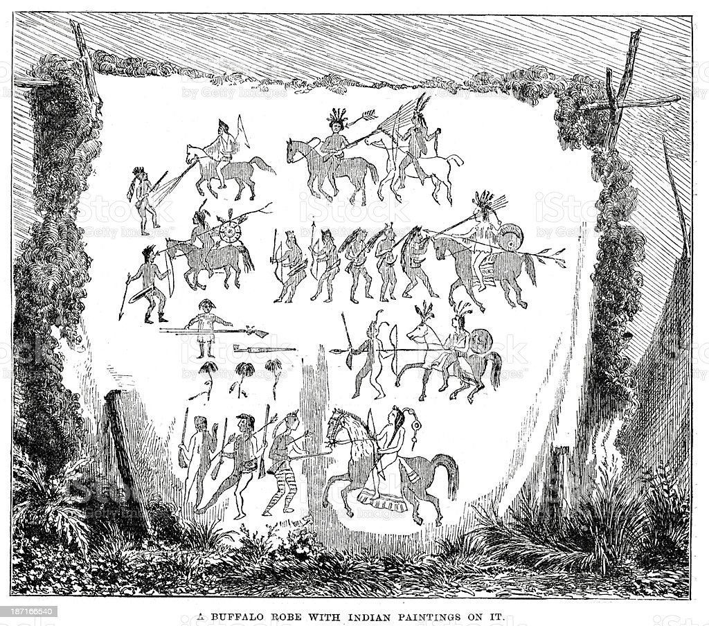 Native American Art royalty-free stock vector art