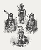 Native American leaders, after photographs by Alexander Gardner, published 1874