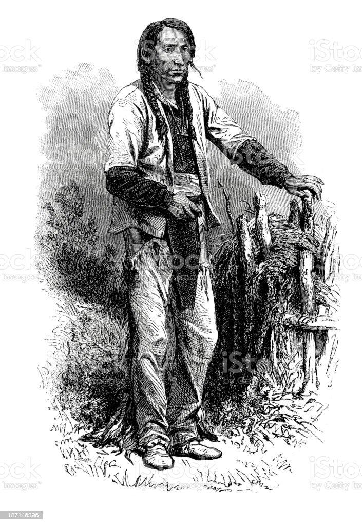 Native American Man royalty-free stock vector art
