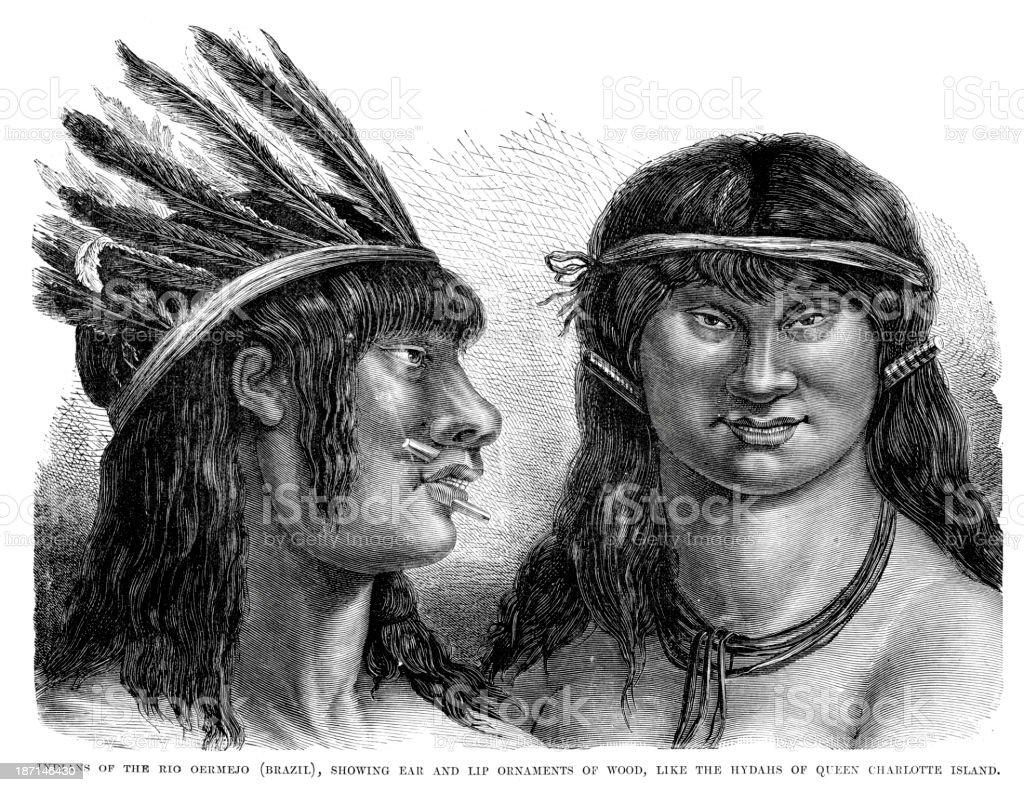 Native Americans royalty-free stock vector art