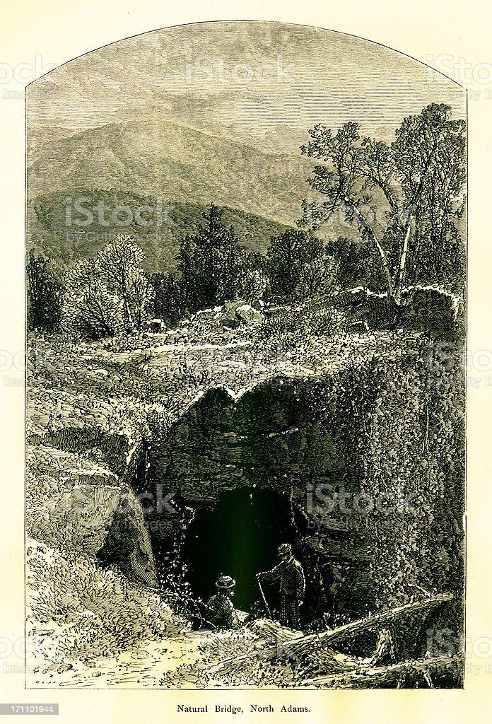 Natural Bridge, North Adams, Massachusetts royalty-free stock vector art