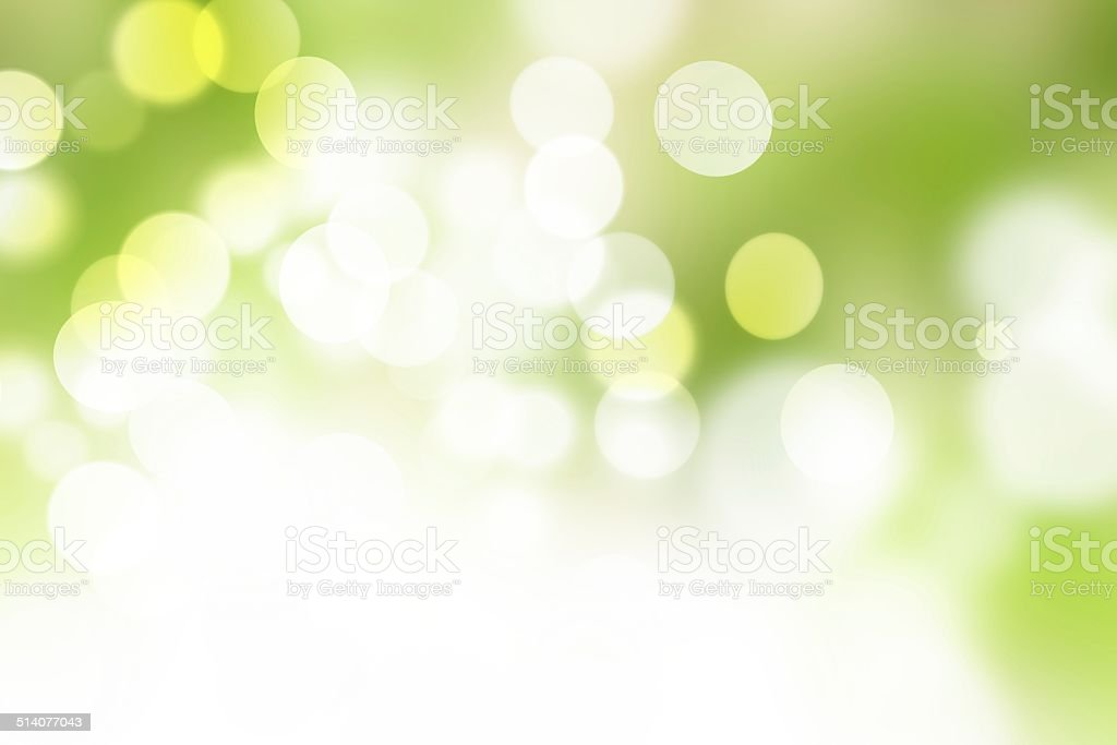 Natural green blurred background, bokeh vector art illustration