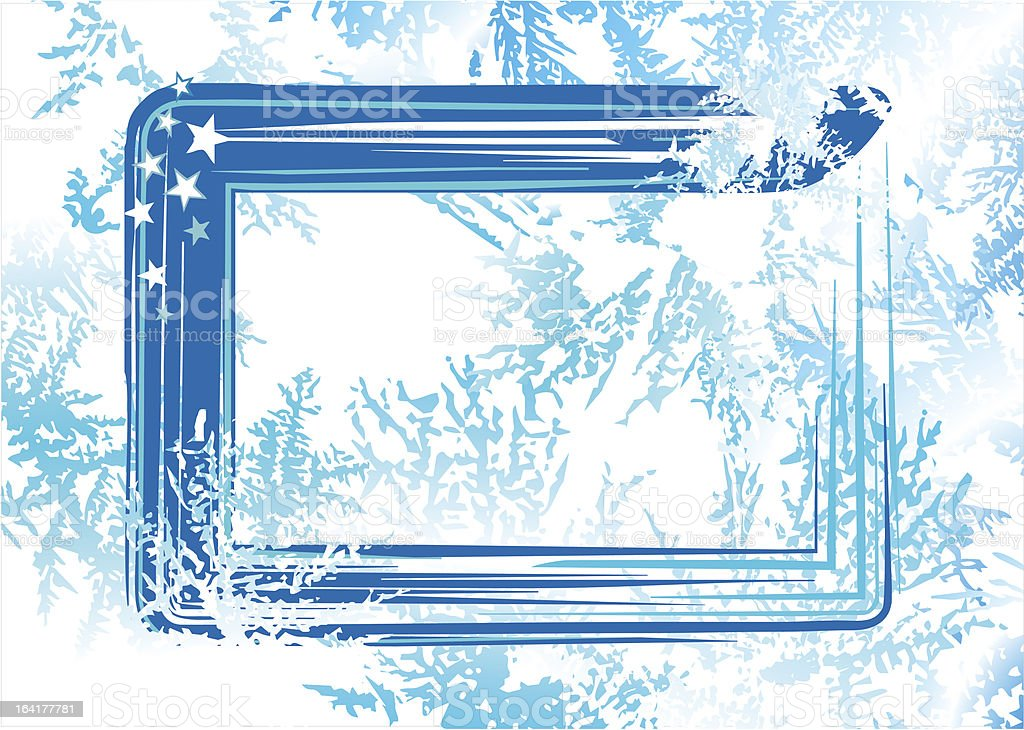 Natural hoarfrost grunge background royalty-free stock vector art
