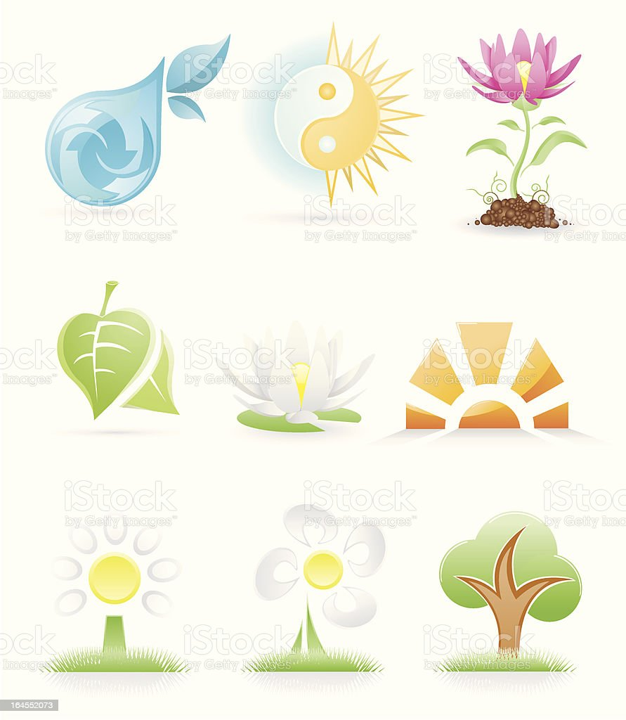 natural icons royalty-free stock vector art