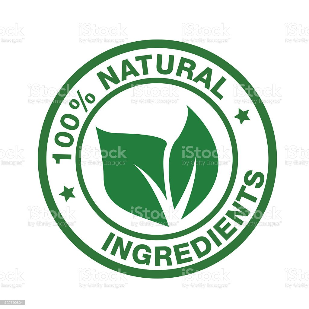 Natural Ingredients vector art illustration
