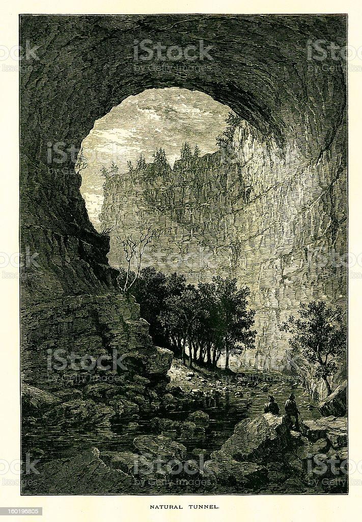 Natural Tunnel, Virginia vector art illustration