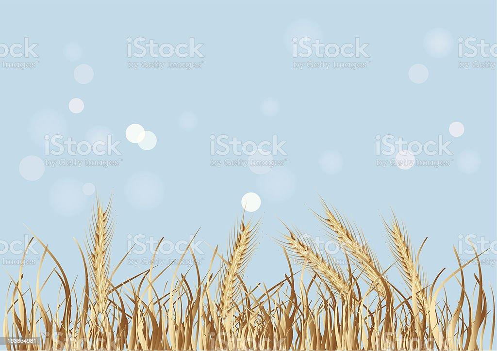 Nature background vector art illustration