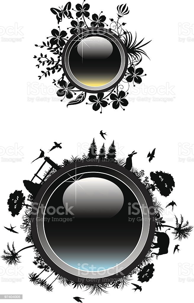 Nature badges royalty-free stock vector art