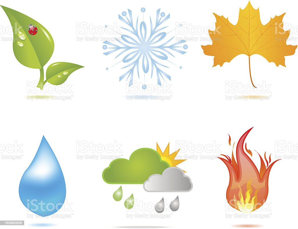 Nature elements royalty-free stock vector art