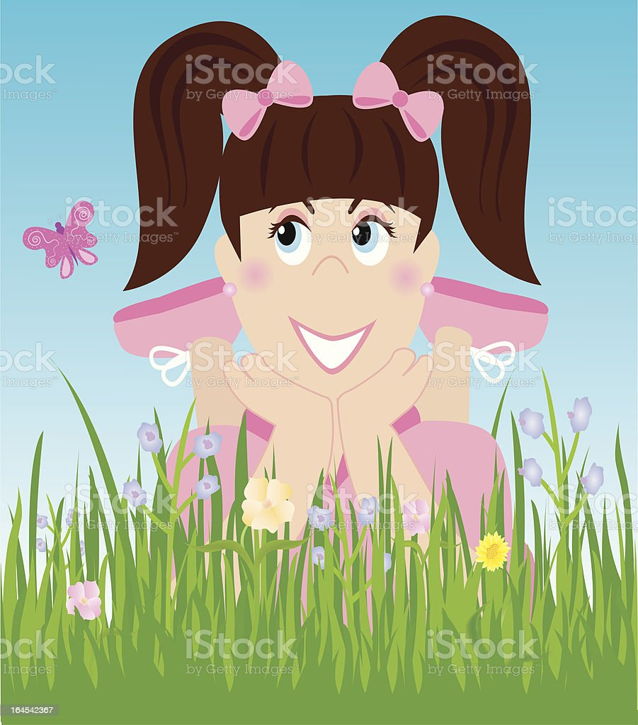 Nature Girl royalty-free stock vector art