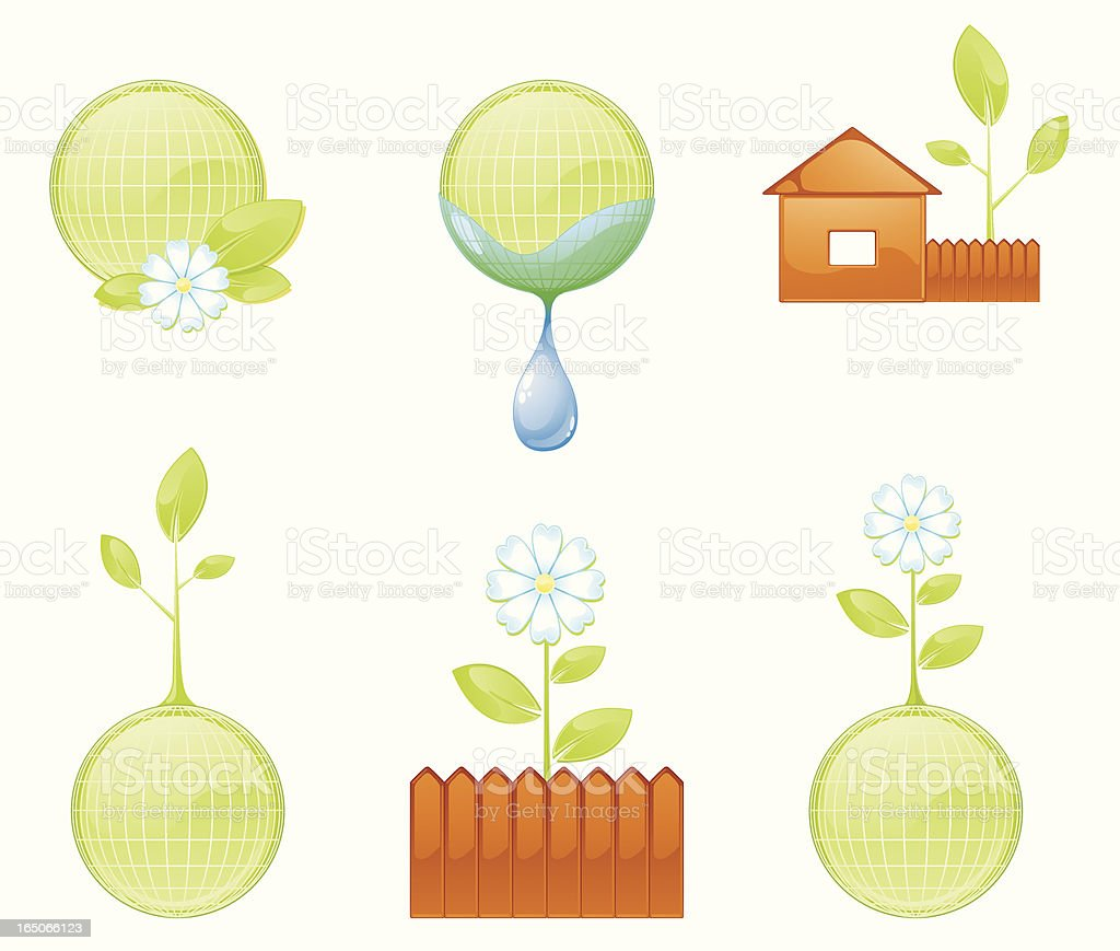 Nature Icons royalty-free stock vector art