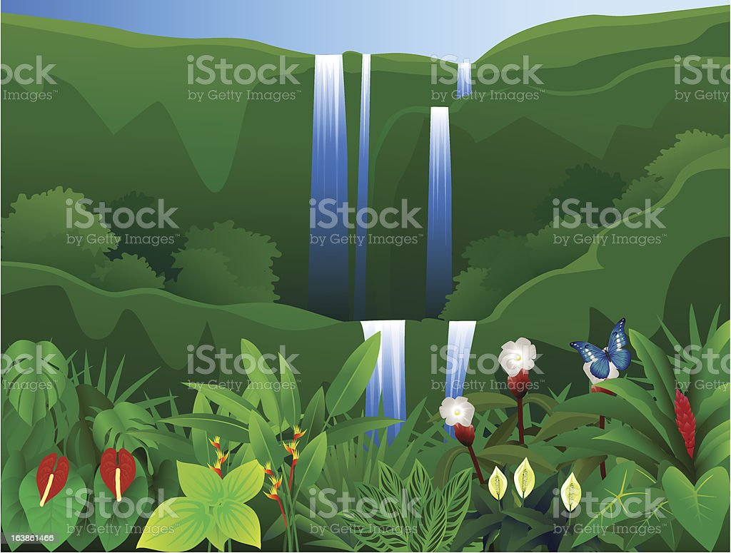Nature tropical background royalty-free stock vector art