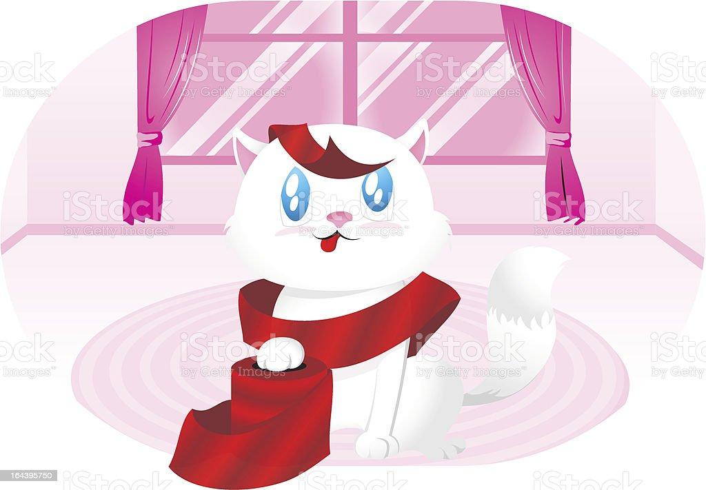 Naughty kitty vector art illustration