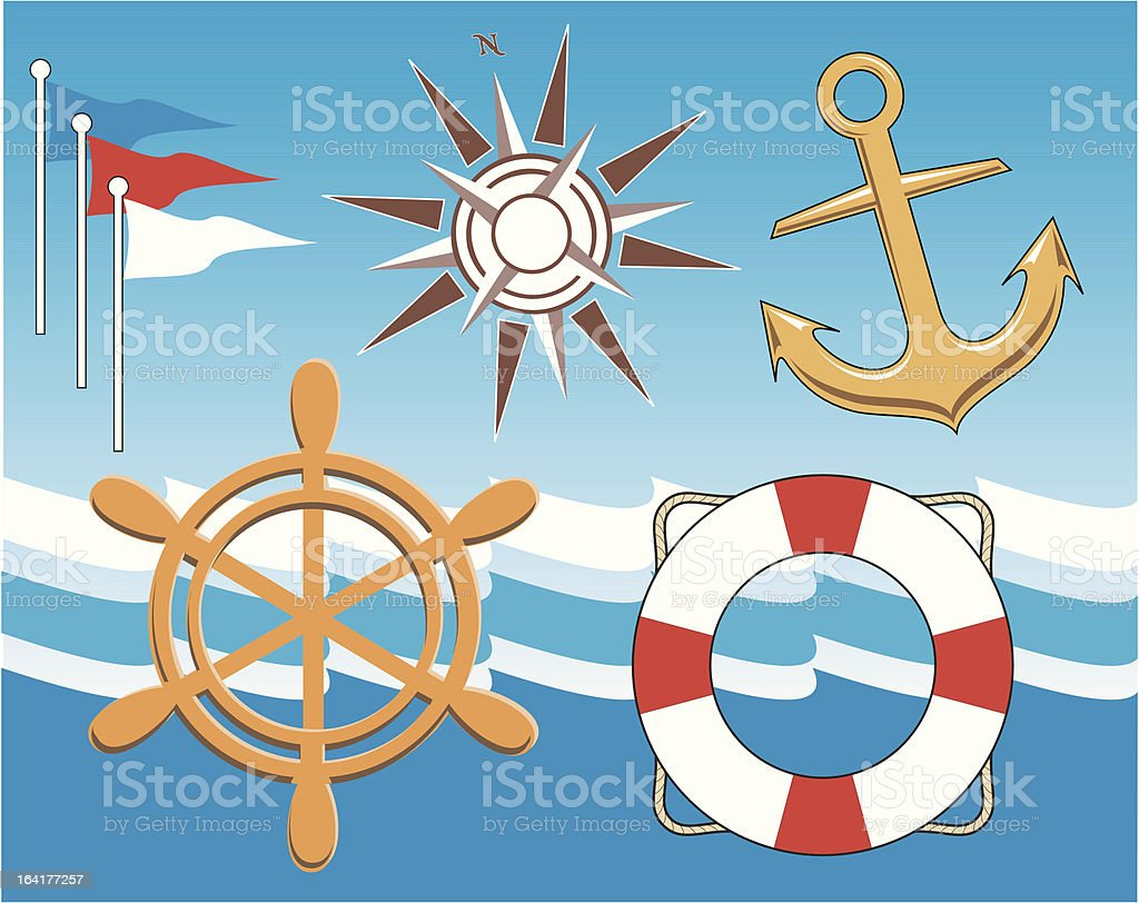 Nautical royalty-free stock vector art