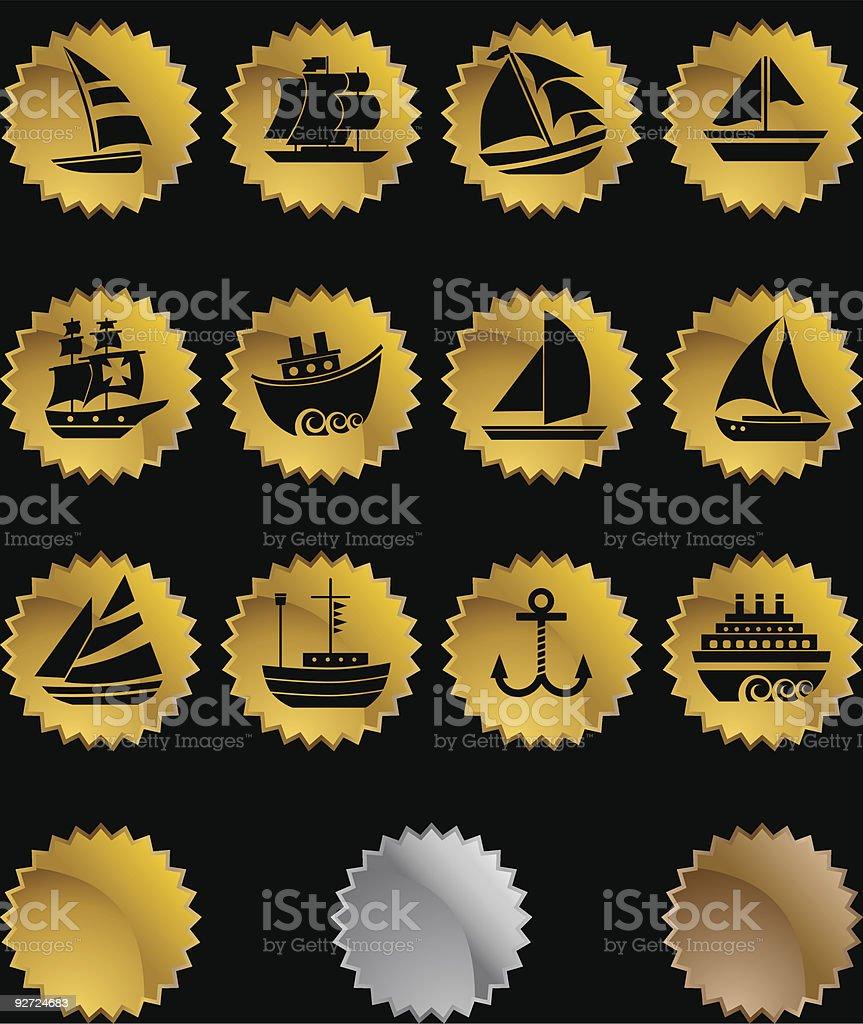 Nautical Ship Seals royalty-free stock vector art