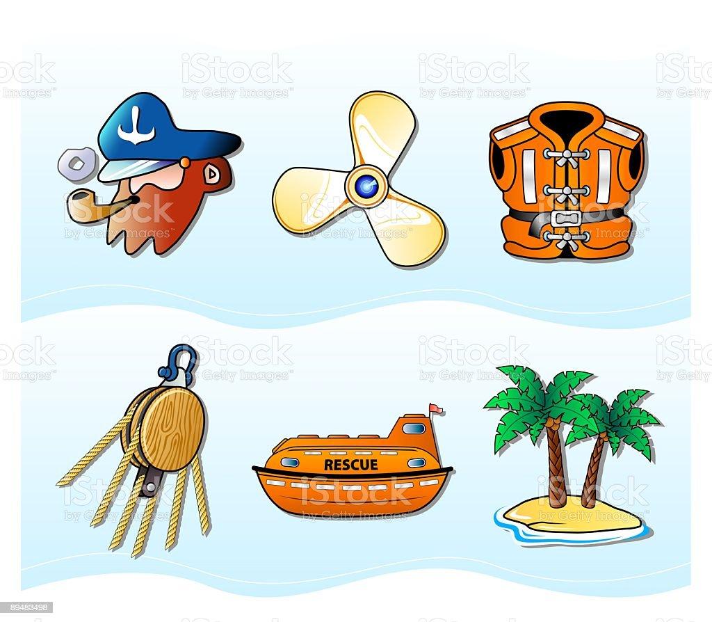 Nautical stuff royalty-free stock vector art