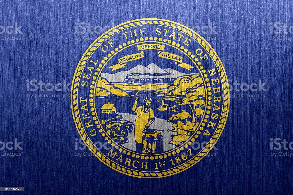 Nebraska Flag royalty-free stock vector art