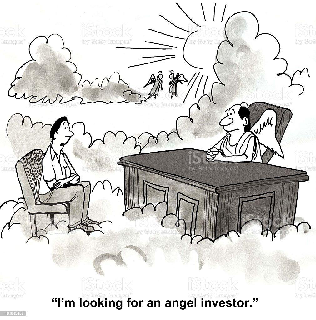 Need an Angel Investor vector art illustration