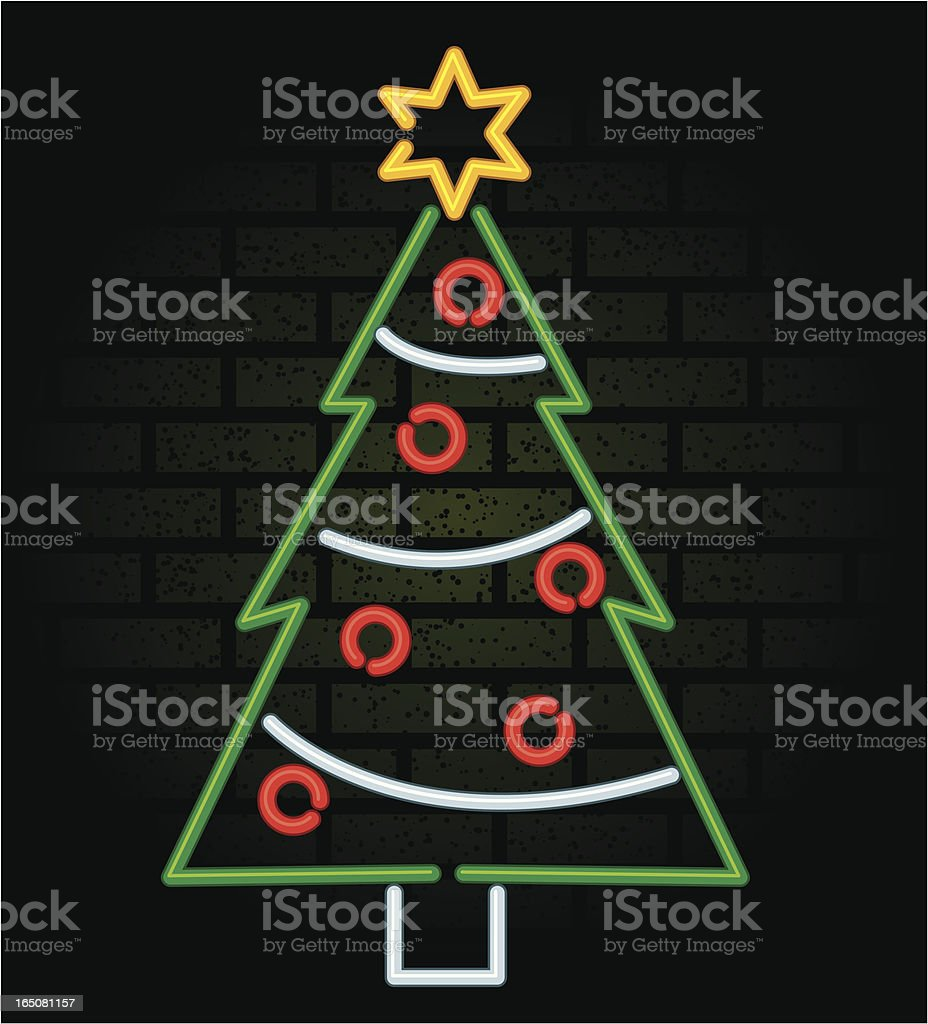 neon christmas royalty-free stock vector art