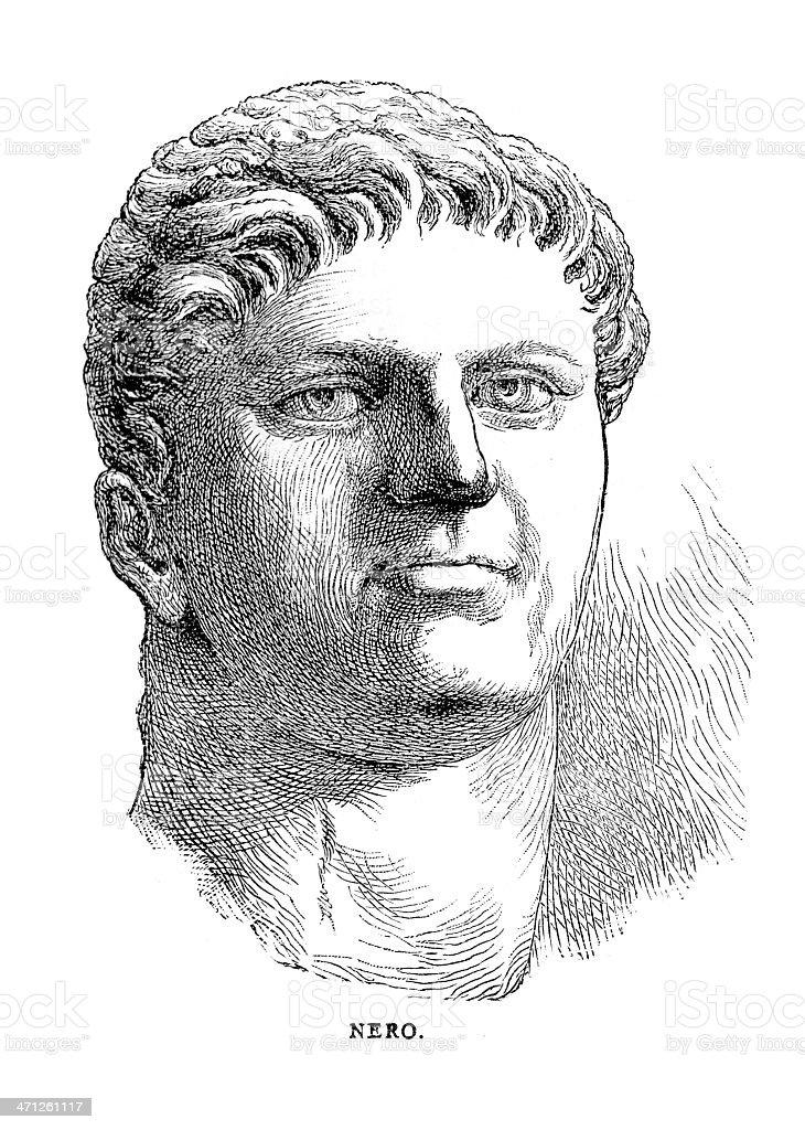 Nero Claudius Caesar Augustus Germanicus royalty-free stock vector art