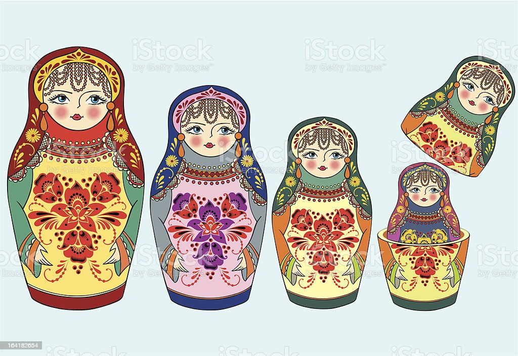 nesting_dolls royalty-free stock vector art