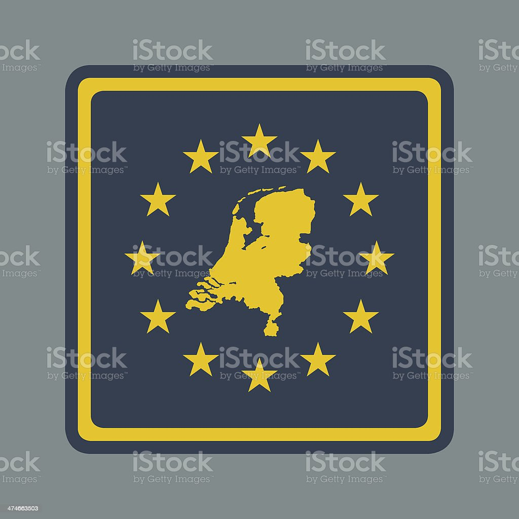 Netherlands European flag button royalty-free stock vector art