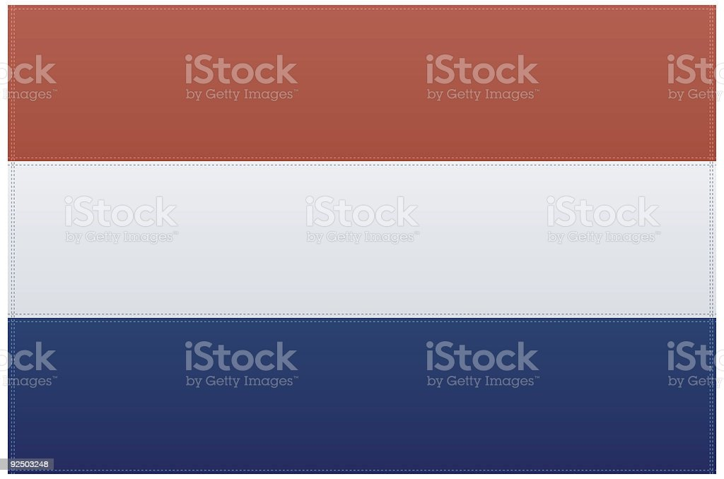 Netherlands Flag (Vector) royalty-free stock vector art