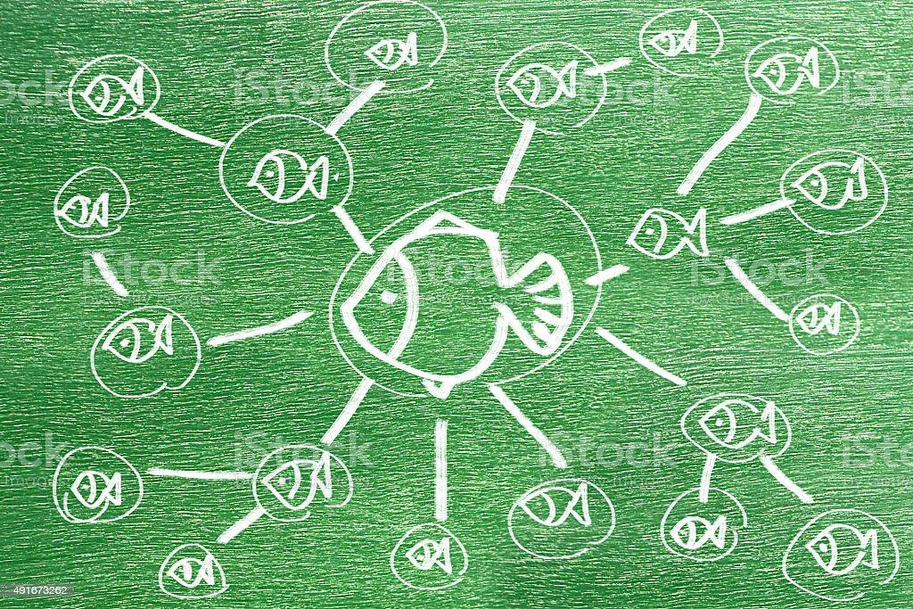 network connection concept vector art illustration