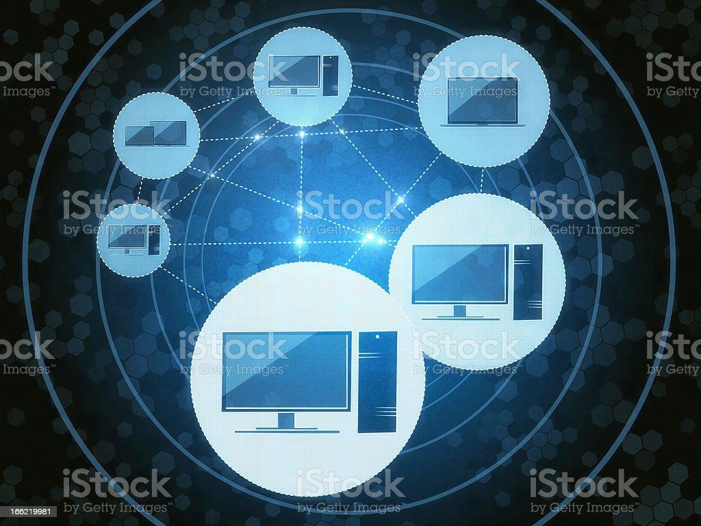 Network PC royalty-free stock vector art