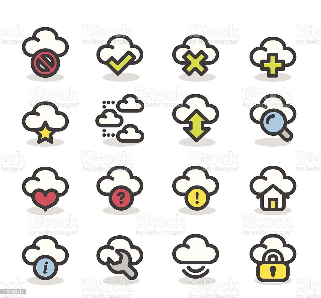 Network,Cloud computing icon set royalty-free stock vector art
