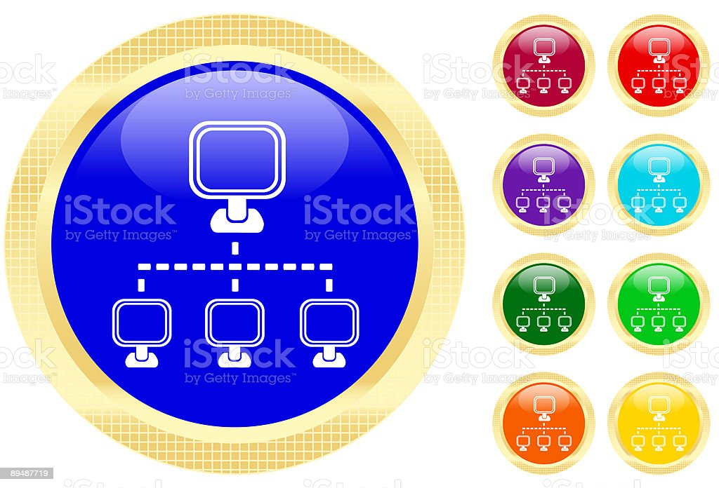 Networking icon royalty-free stock vector art