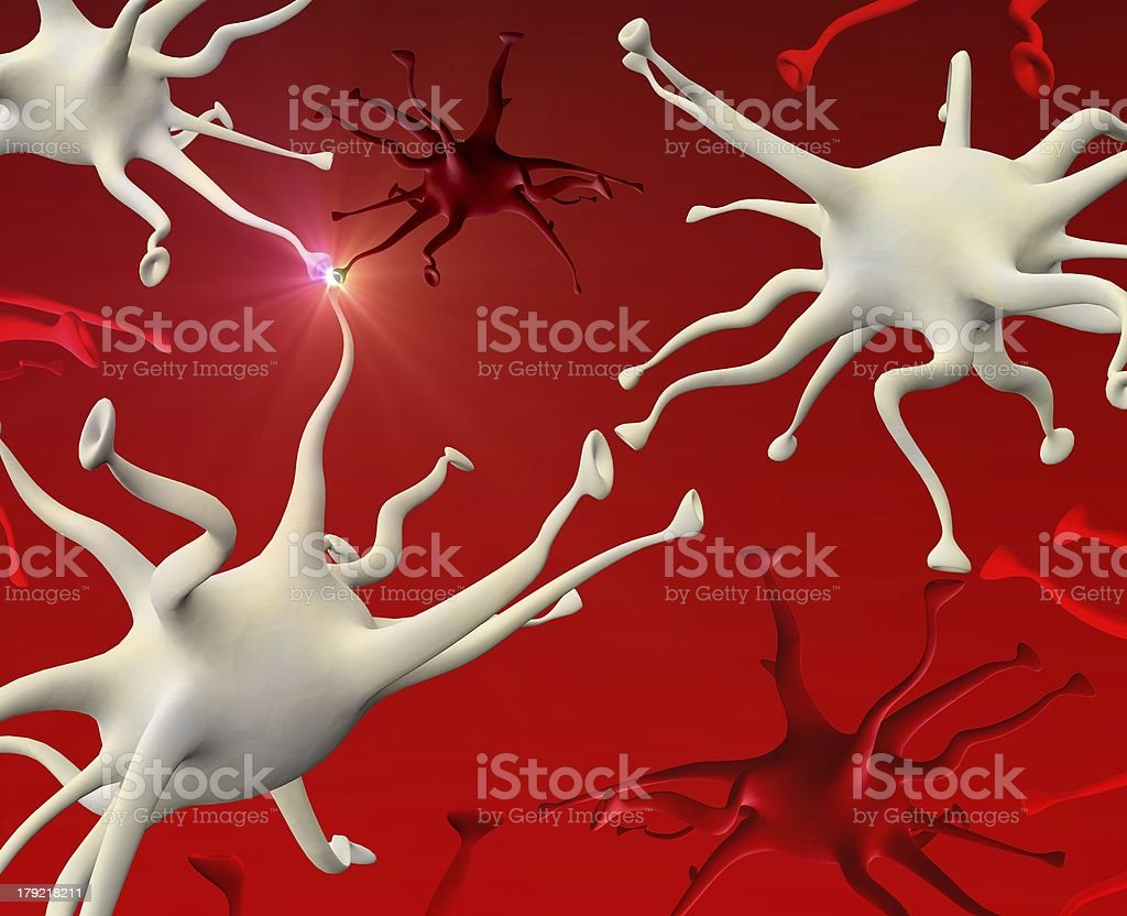 neuronal touch royalty-free stock vector art