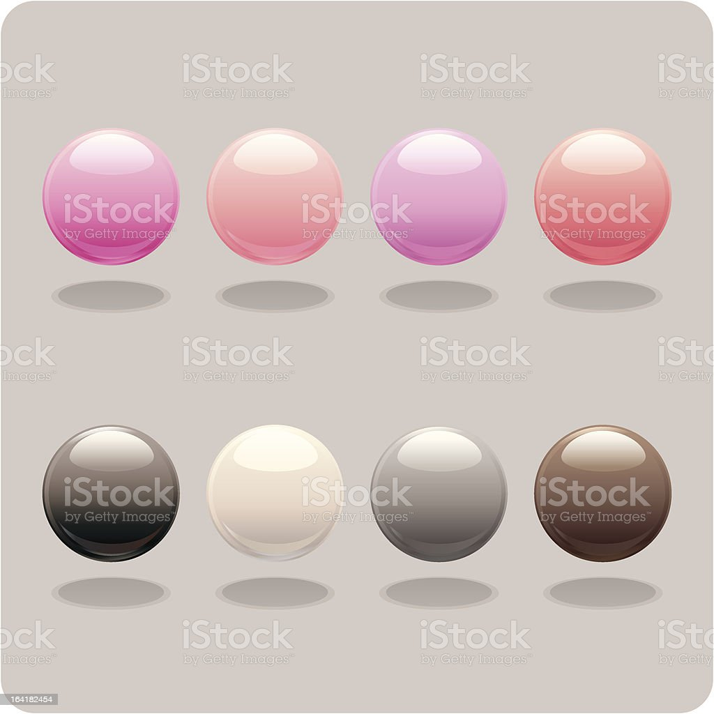 Neutral & Pink Orbs vector art illustration
