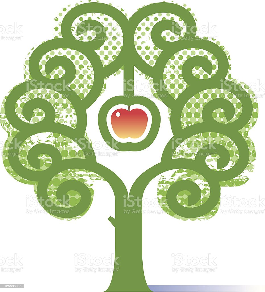 New apple tree royalty-free stock vector art