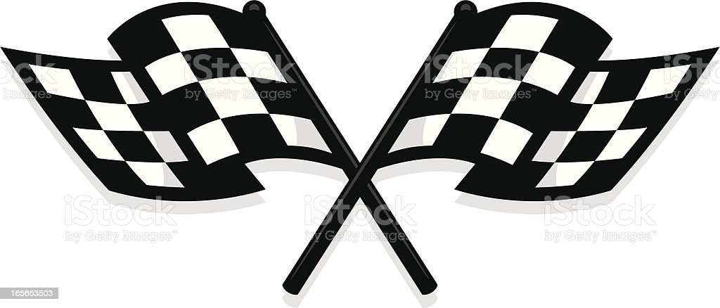 new checkered flag royalty-free stock vector art