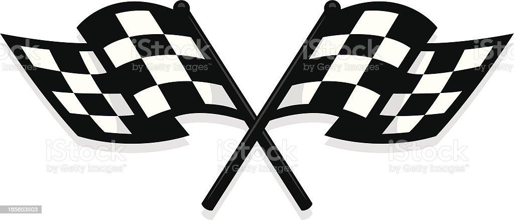 new checkered flag vector art illustration