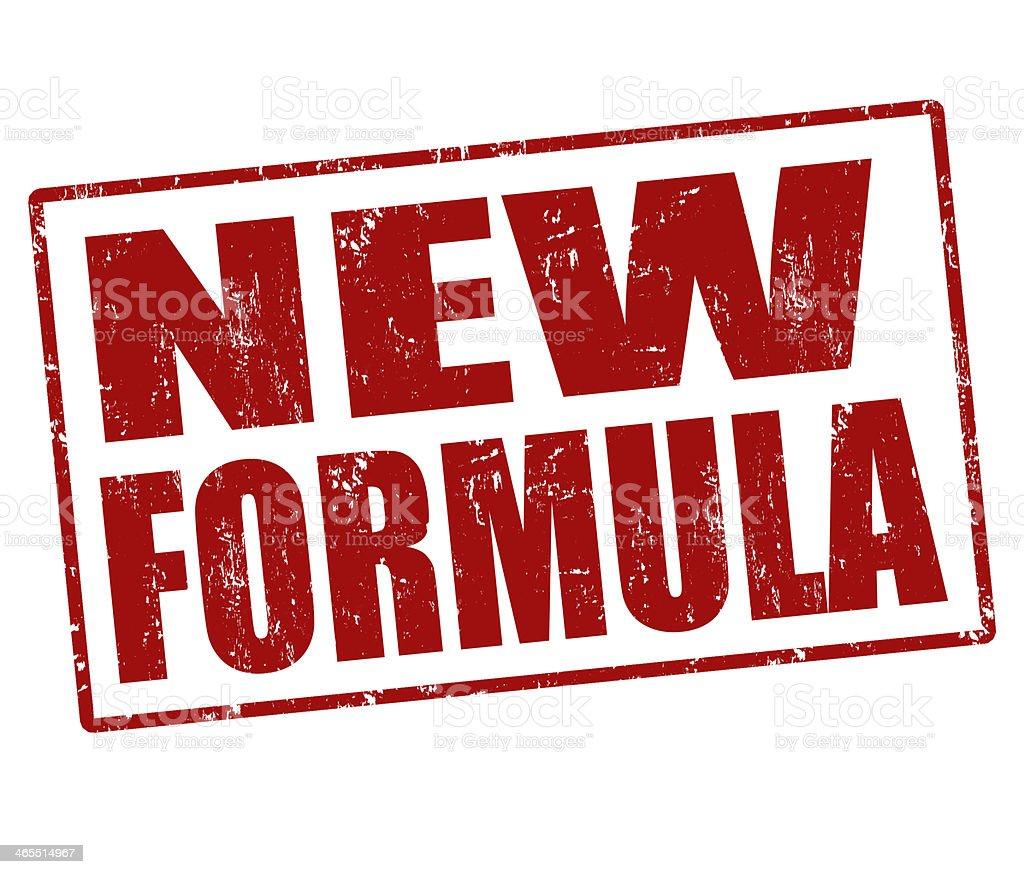 New formula stamp royalty-free stock vector art