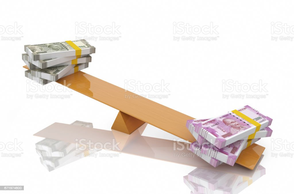 New Indian Currency stock photo